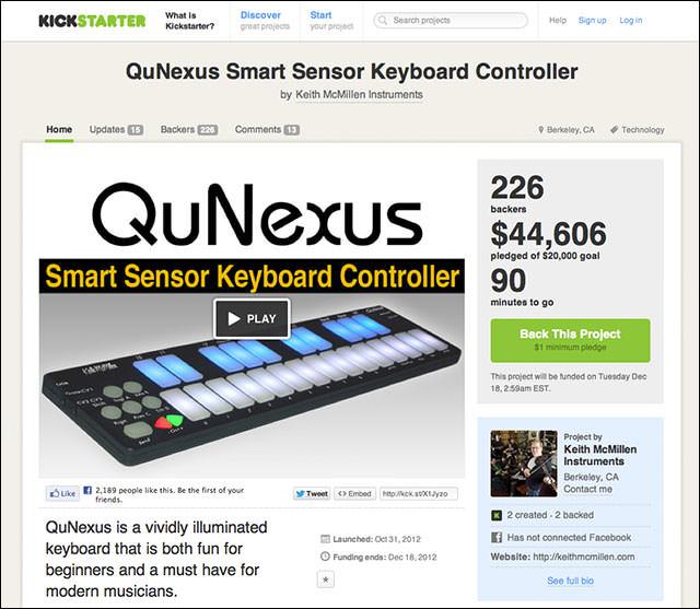 QuNexus_Smart_Sensor_Keyboard_Controller_Kickstarter