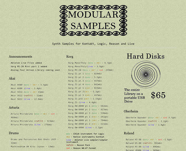 Modular Samples