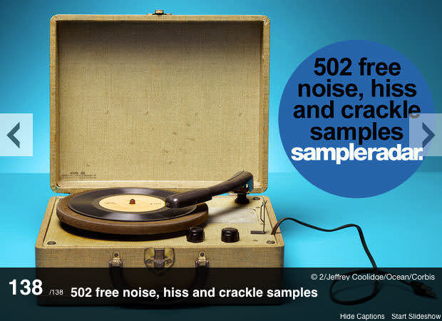 MusicRadar - 502 free noise, hiss and crackle samples