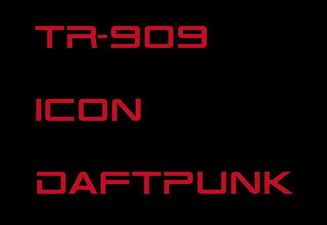 Roland TR-909 Font