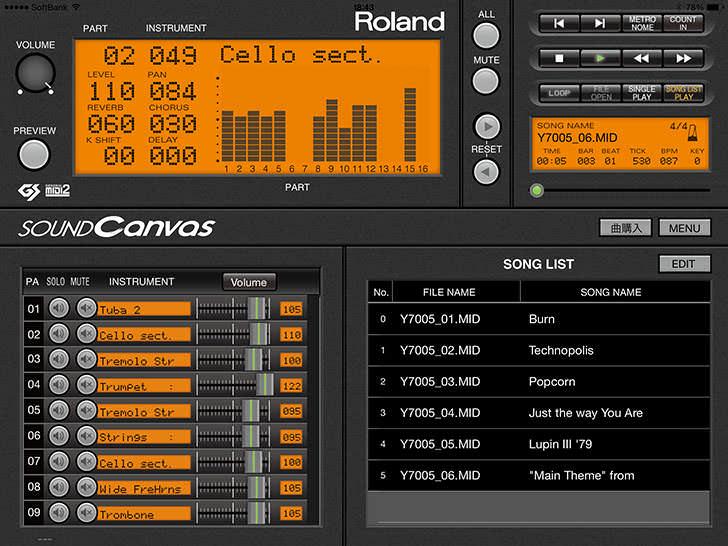 Roland - Sound Canvas for iOS