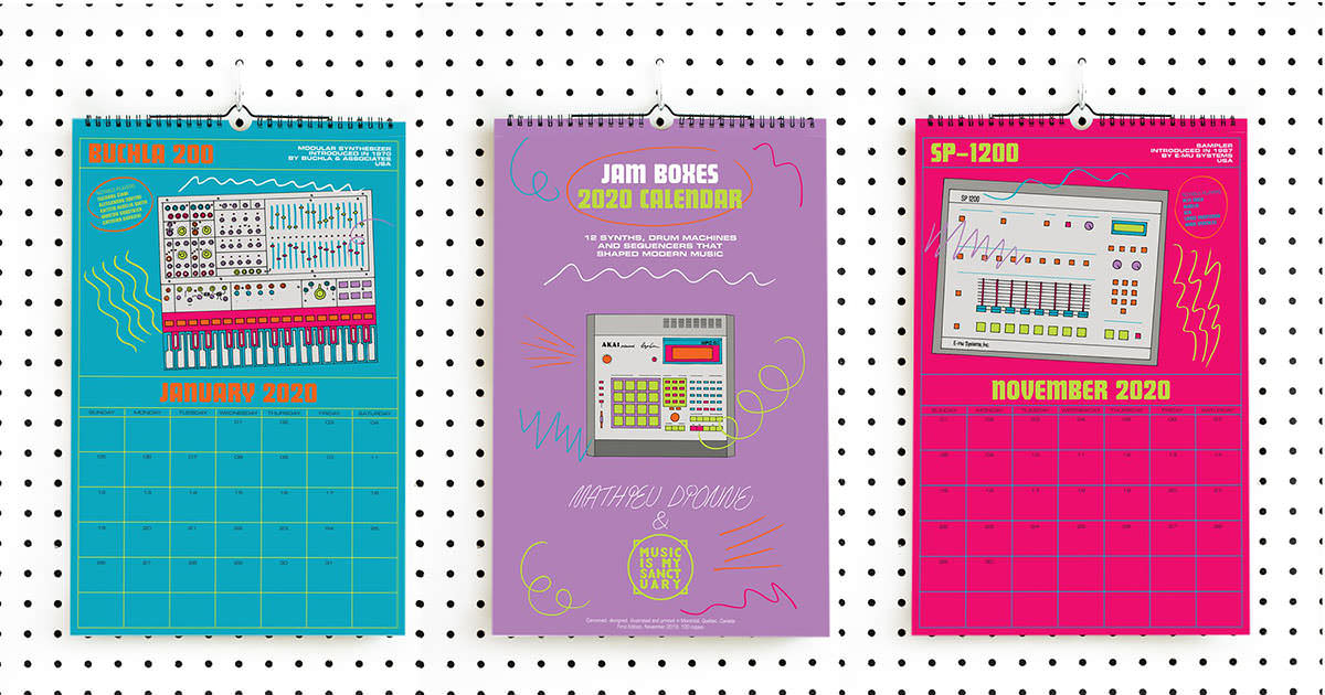 Music Is My Sanctuary - JAM BOXES 2020 Calendar by Mathieu Dionne